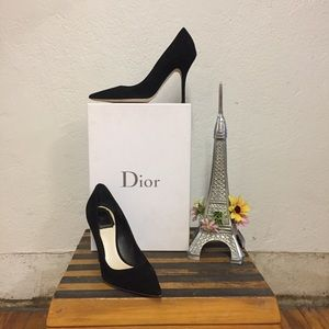 Christian Dior Black Suede Pumps, 6